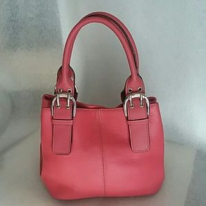 TIGNANELLO PINK LEATHER SATCHEL